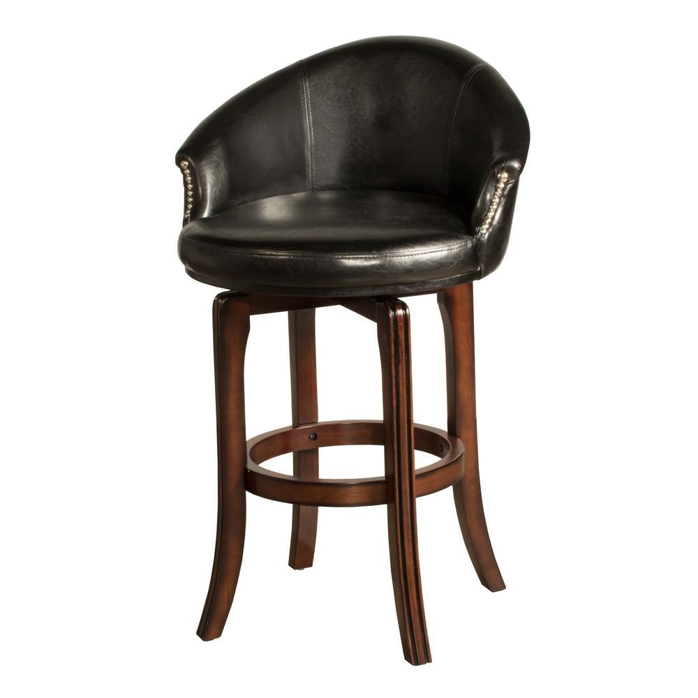 Hillsdale Furniture Dartford 25 in. Dark Brown Cherry Swivel Cushioned Counter