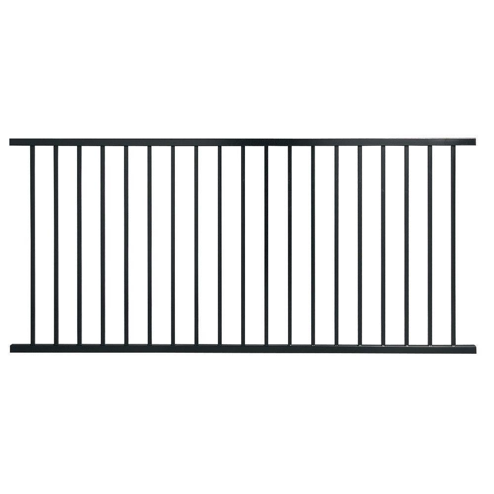 Leslie-Locke Pro Series 4 ft. H x 8 ft. W Black Galvanized Steel 2 ...