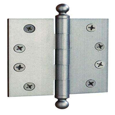 Distressed Nickel Ball Tip Door Hinge (Set Of