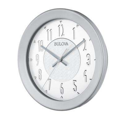 16.5 in. H x 16.5 in. W Round Indoor-Outdoor Wall Clock with Bluetooth Technology