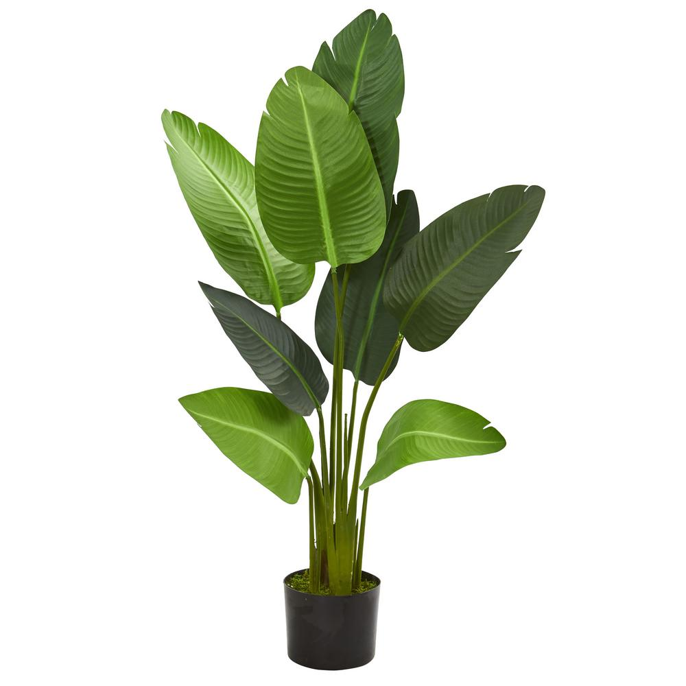 Nearly Natural Indoor 4 Ft Travelers Palm Artificial Tree 5582 The Home Depot