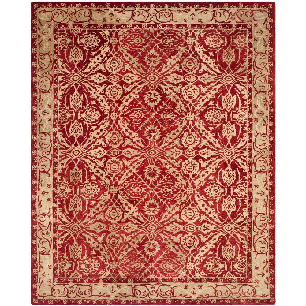 Anatolia Red/Ivory 8 ft. x 10 ft. Area Rug