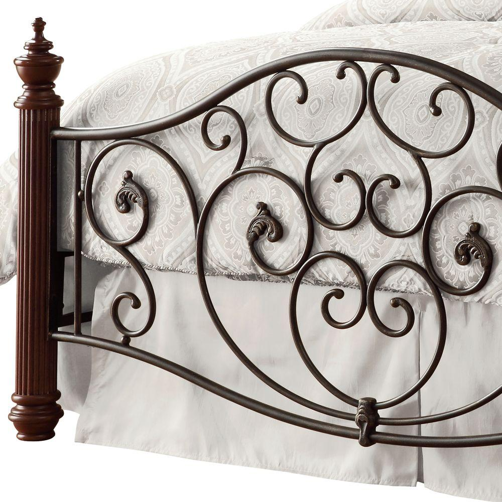 Black and Brown Queen Bed Frame