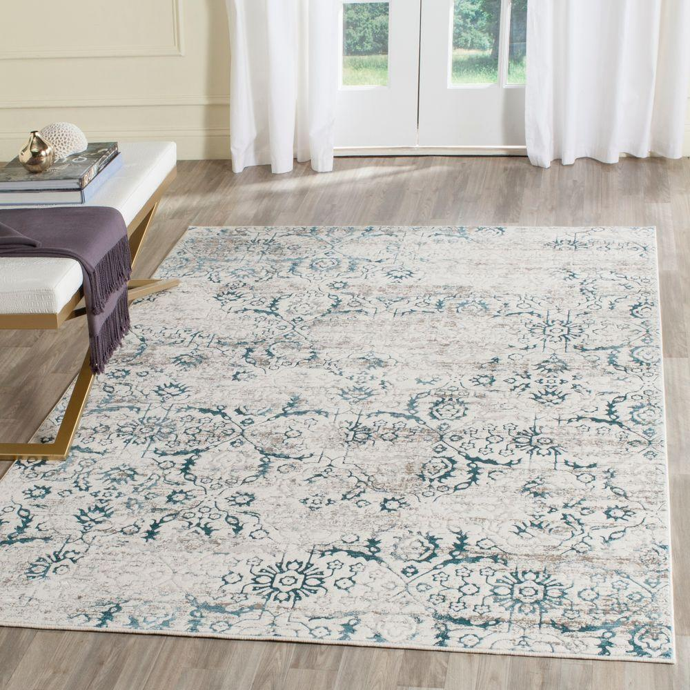Safavieh Artifact Blue Cream 8 Ft X 10 Ft Area Rug Atf237b 8 The
