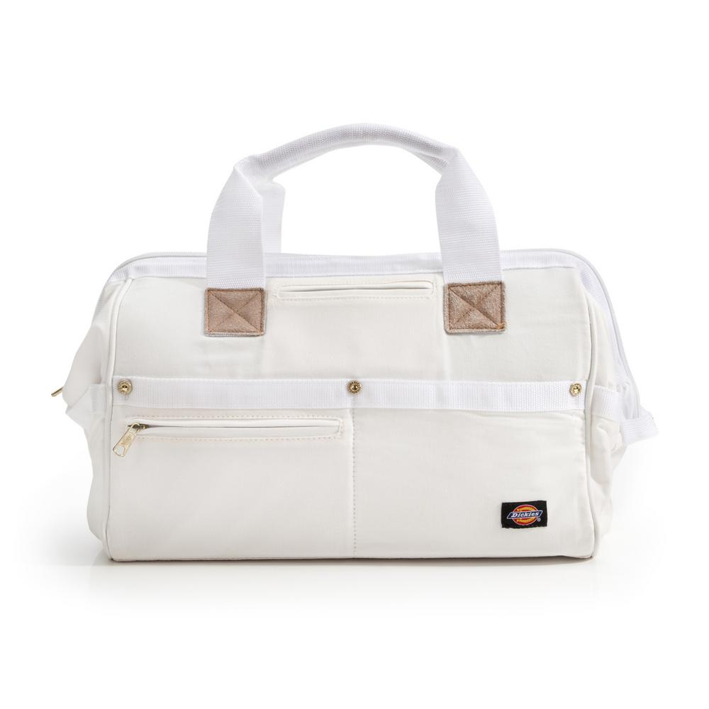 16 in. Soft Sided Construction Work Tool Bag, White