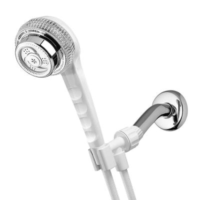 5-Spray 3.3 in. Single Wall Mount Handheld Shower Head in White