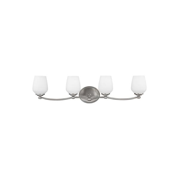 Vintner 4-Light Satin Nickel Vanity Light