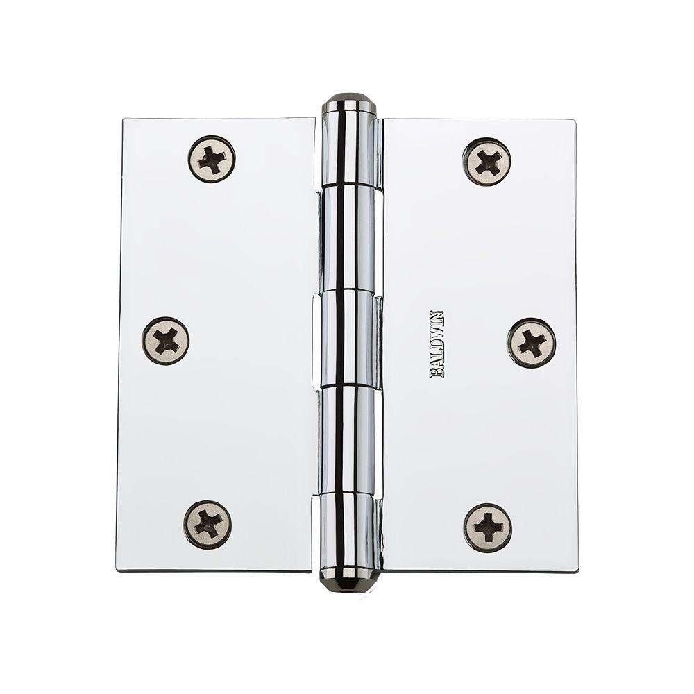 Polished Chrome Square Hinge