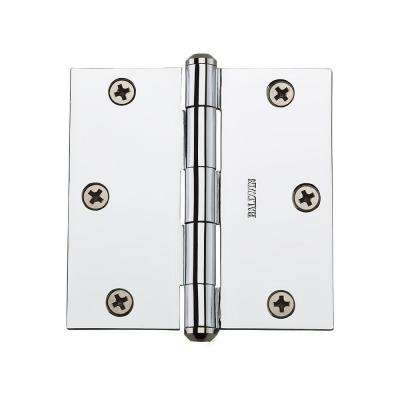3.5 in. Polished Chrome Square Hinge