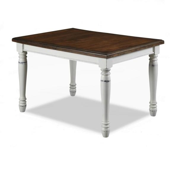 Home Styles Monarch Rubbed White Dining Table 5020-31