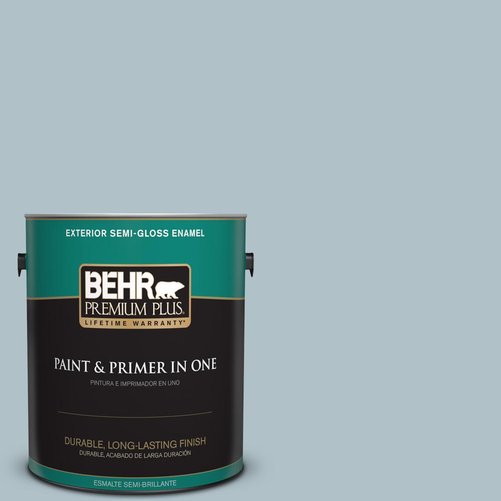 1 gal. #PPU13-14 Ozone Semi-Gloss Enamel Exterior Paint