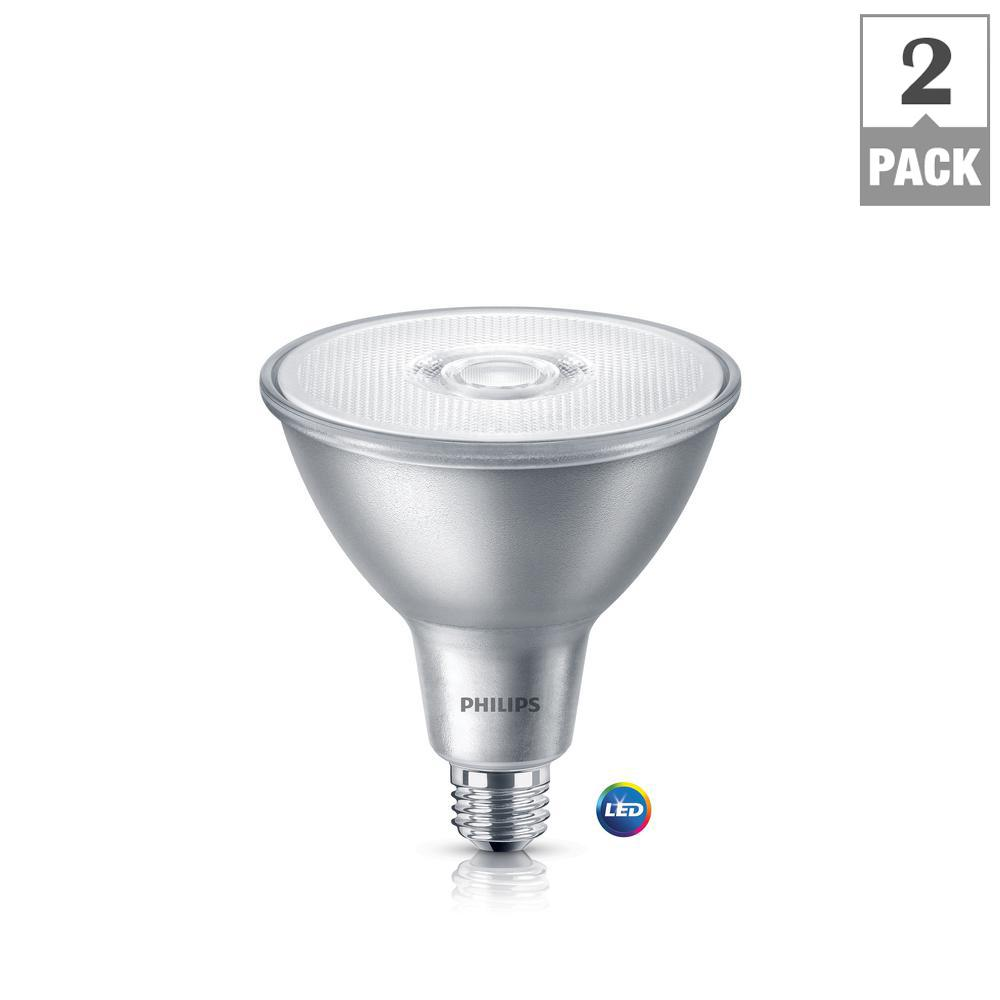 Philips 90 watt equivalent par38 led classic glass indooroutdoor philips 90 watt equivalent par38 led classic glass indooroutdoor bright white 2 workwithnaturefo