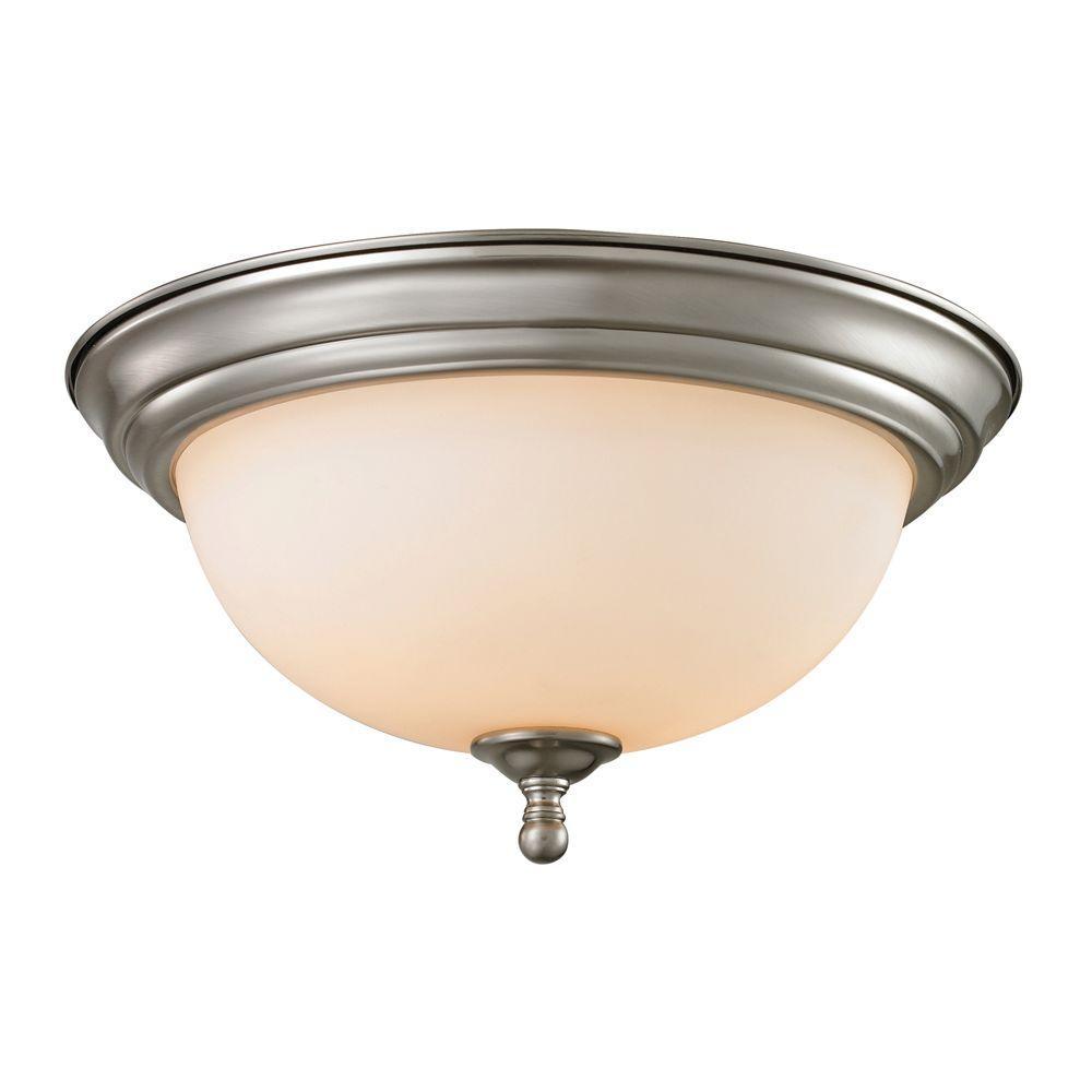 Chatham 3-Light Brushed Nickel Ceiling Flushmount