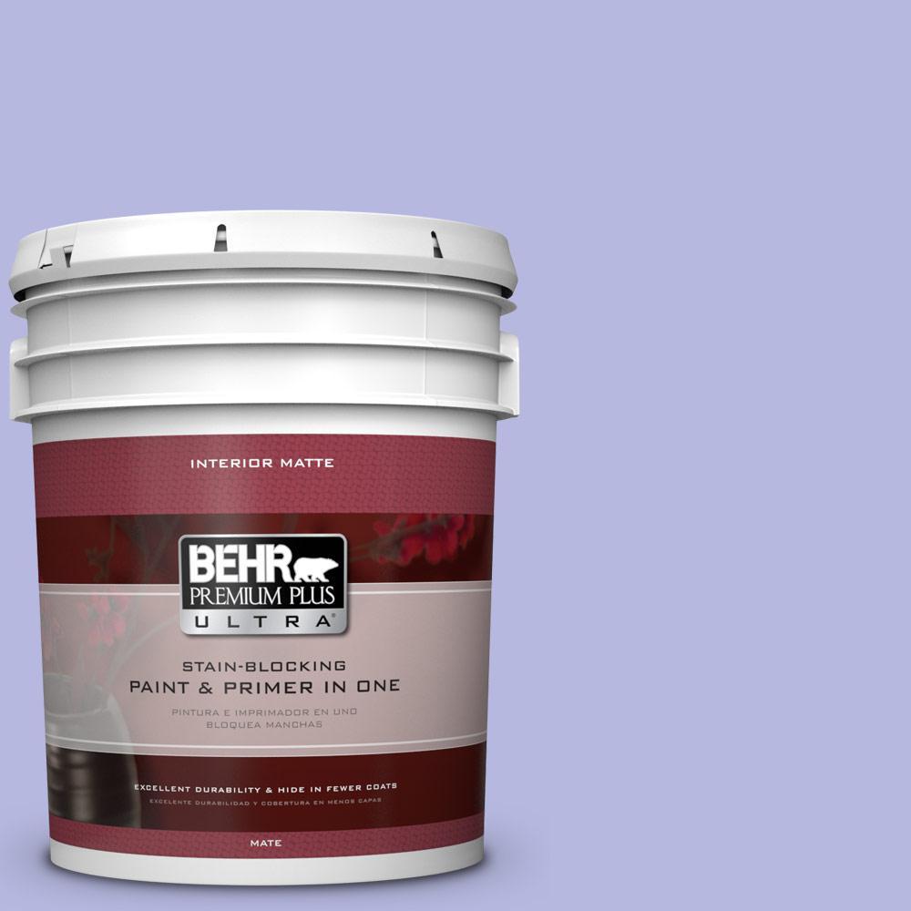 BEHR Premium Plus Ultra 5 gal. #P550-3 Lavender Cloud Matte Interior Paint