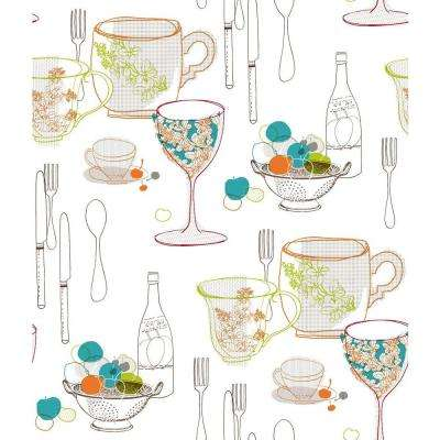 Graphic Tableware Wallpaper