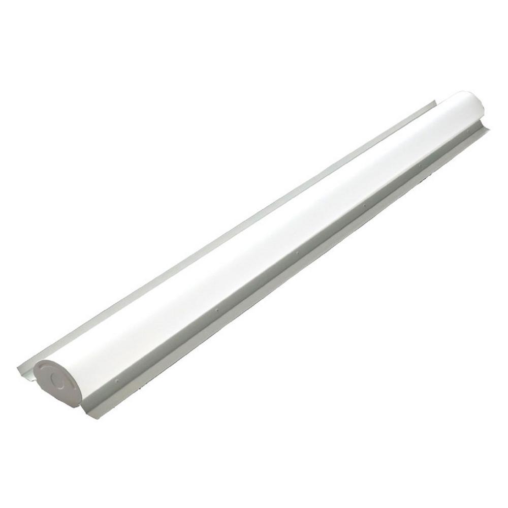 4 ft. 64-Watt Equivalent 36-Watt White 4000K Integrated LED Retrofit Linear Strip Light 4900 Lumens Multivolt Cool White