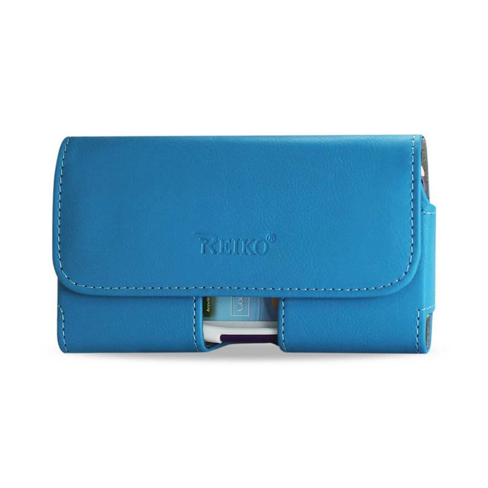 REIKO Medium Horizontal Leather Holster in Blue