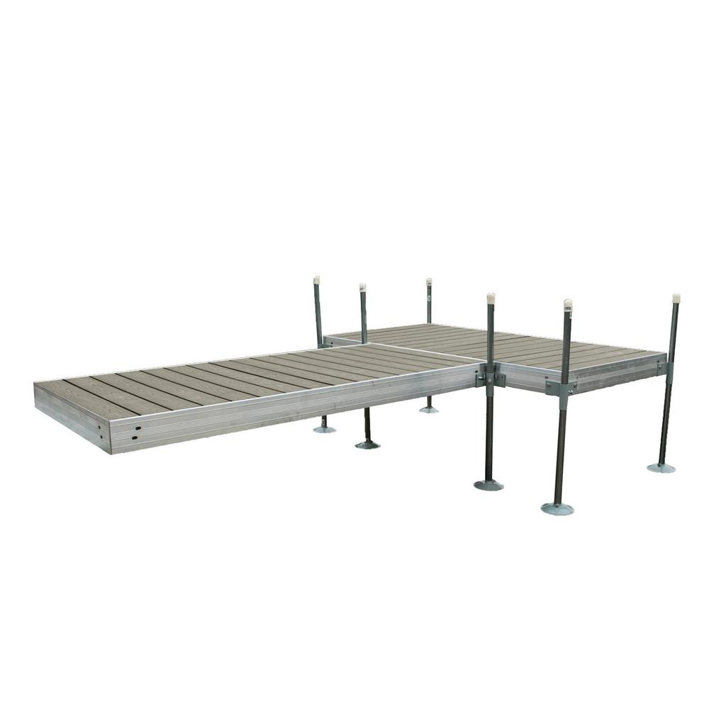 Tommy Docks 12 ft. T-Style Aluminum Frame with Decking Complete Dock Package