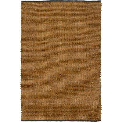 Zola Orange/Charcoal 8 ft. x 11 ft. Indoor Area Rug