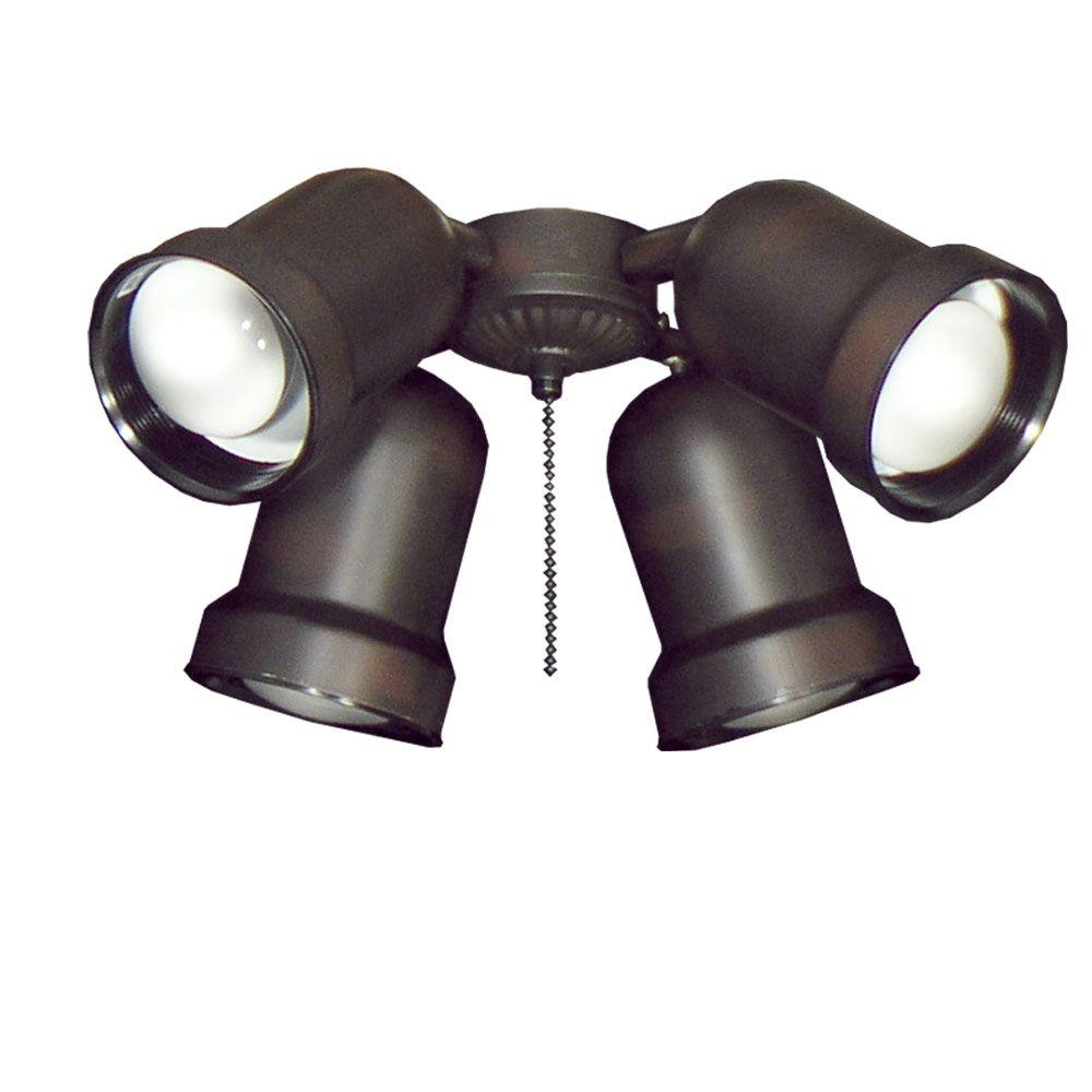 TroposAir 463 Spotlight Oil Rubbed Bronze Indoor/Outdoor Ceiling Fan Light 651    The Home Depot