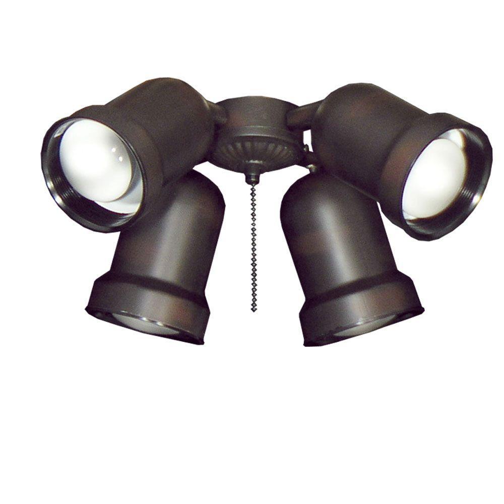 TroposAir 463 Spotlight Oil Rubbed Bronze Indoor/Outdoor Ceiling Fan Light