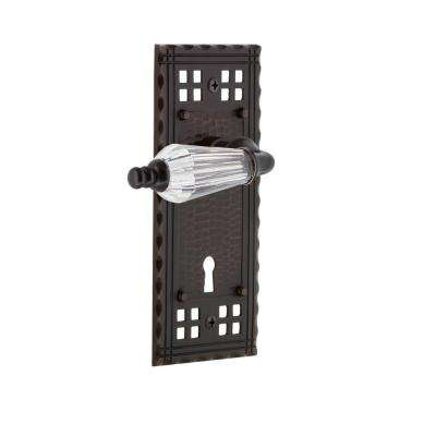 Craftsman Plate with Keyhole 2-3/8 in. Backset Timeless Bronze Privacy Bed/Bath Parlor Lever