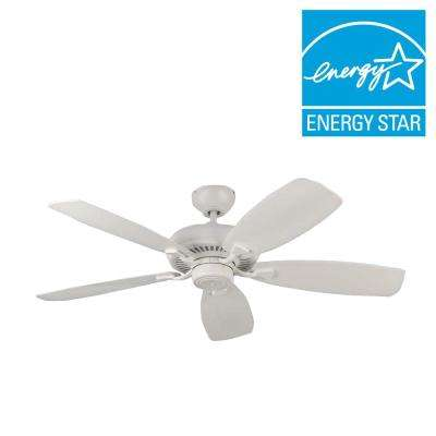 Designer Max 52 in. Rubberized White Ceiling Fan
