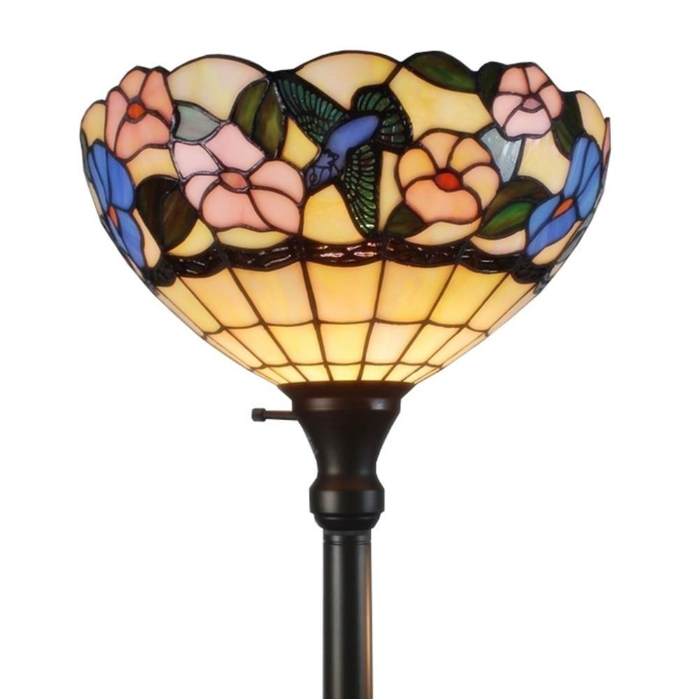 Amora Lighting 70 In Tiffany Style Hummingbirds Floral