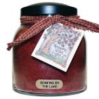 Bonfire by the Lake Glass Candle