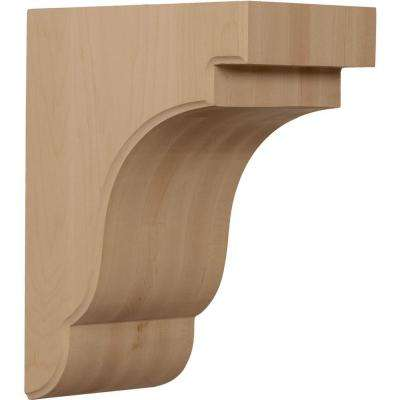 8-1/2 in. x 5-1/4 in. x 11 in. Unfinished Rubberwood Bedford Corbel