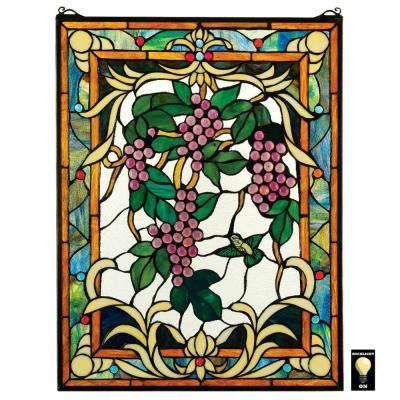 The Grape Vineyard Stained Glass Window Panel