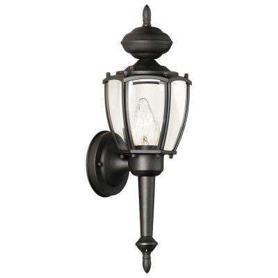 Park Avenue 1-Light Black Outdoor Wall Mount Lantern