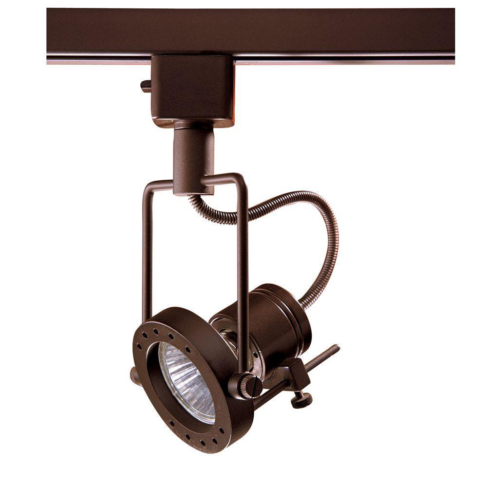 Series 4 Line-Voltage GU-10 Oil-Rubbed Bronze Track Lighting Fixture