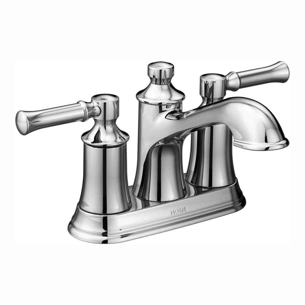 MOEN Dartmoor 4 in. Centerset 2-Handle Bathroom Faucet in Chrome