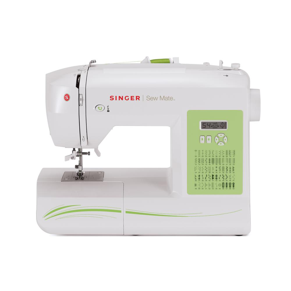 Sew Mate 60-Stitch Sewing Machine With Automatic Needle Threading, White Packed with features, your project possibilities are endless. The heavy duty metal frame provides for overall durability and skip-free sewing. A handy Quick Start Guide and Machine Intro DVD will help you get started in no time. Color: White.