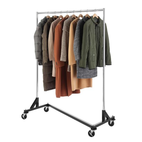 Whitmor Chrome Metal Clothes Rack 60 In W X 74 In H 6339 7548 The Home Depot