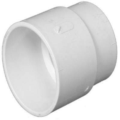4 in. x 4 in. PVC DWV Spigot Cast-Iron Hub x Hub Adapter