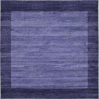 Del Mar Navy Blue 8 ft. x 8 ft. Square Area Rug