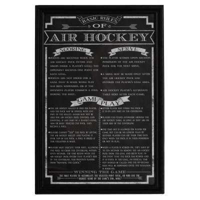 Air Hockey Game Rules Wall Art