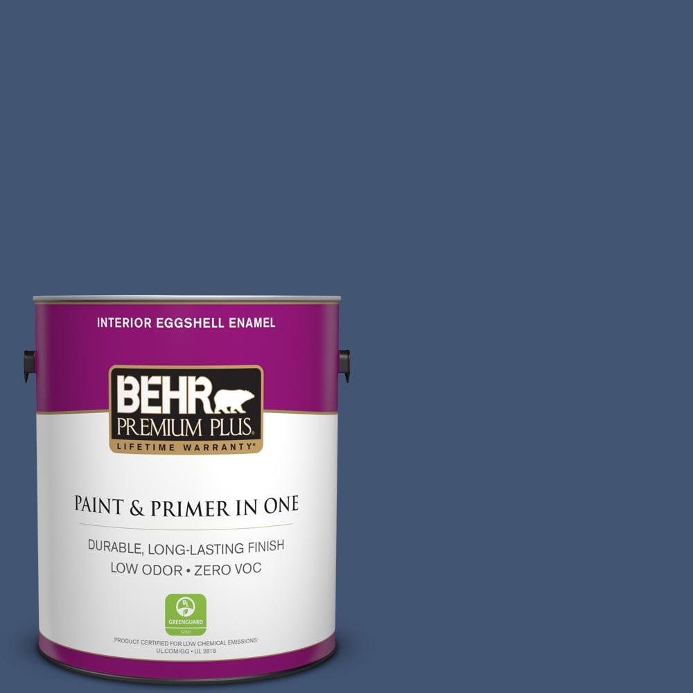 BEHR Premium Plus Home Decorators Collection 1-gal. #HDC-CL-26 Champlain Blue Zero VOC Eggshell Enamel Interior Paint