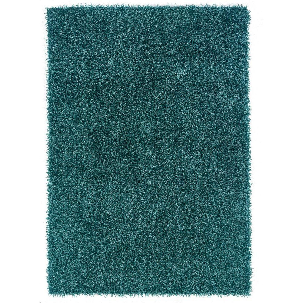 Linon home decor confetti turquoise 1 ft 10 in x 2 ft 10 in area rug rug ci0623 the home depot - Rugs and home decor decor ...