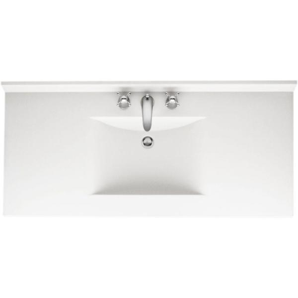 D Solid Surface Vanity Top With Sink, Bathroom Vanity Tops 43 X 22