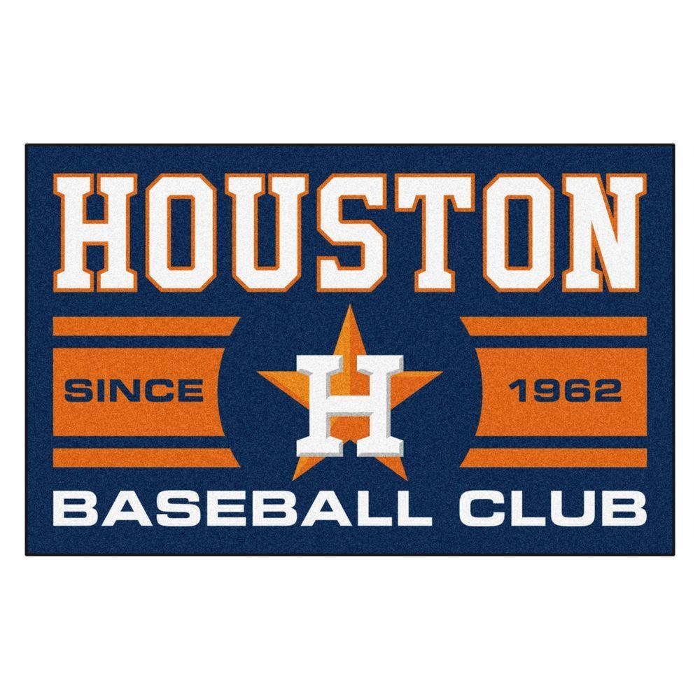 Fanmats Mlb Houston Astros Blue 2 Ft X 3 Ft Area Rug