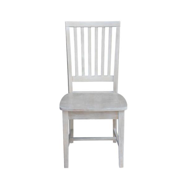 International Concepts Mission Weathered Taupe Gray Dining Chair (Set Of 2)