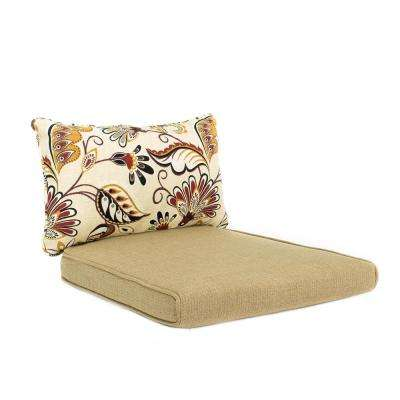 Woodbury 18 x 17 Outdoor Dining Chair Cushion in Standard Textured Sand