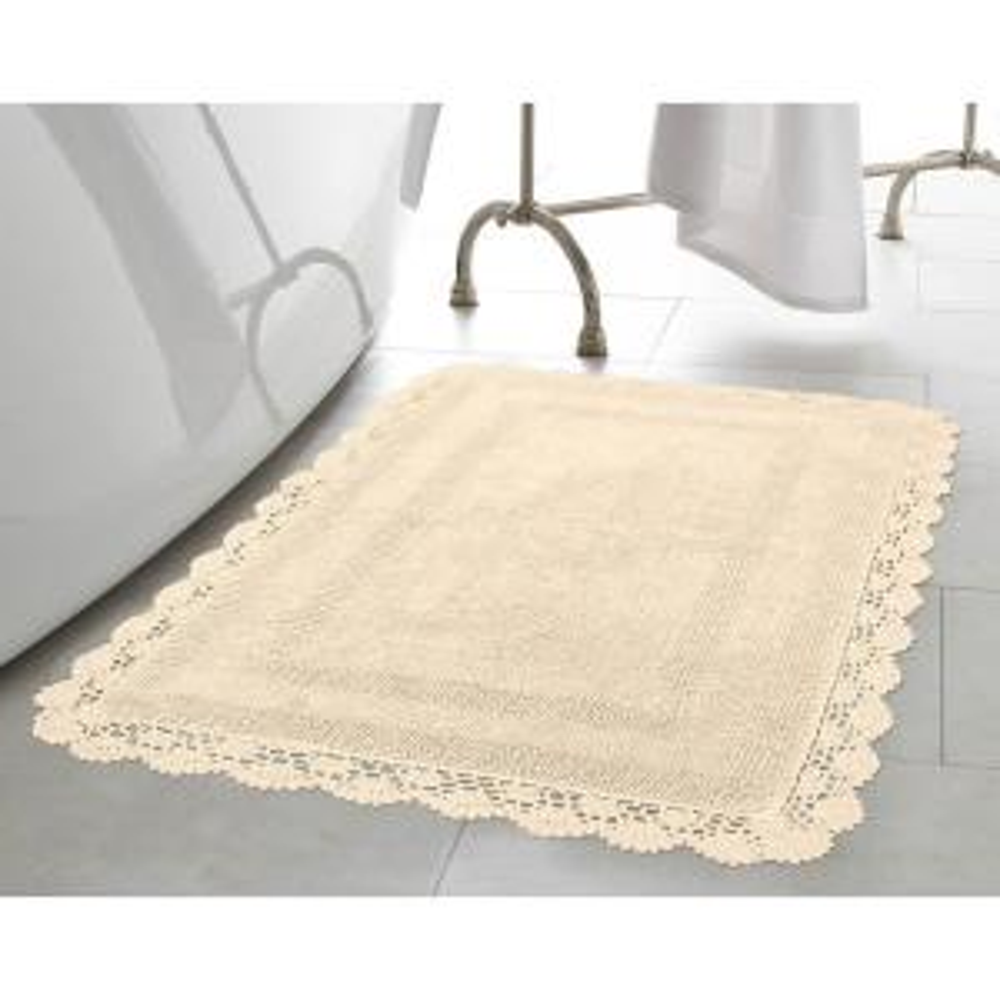 Laura Ashley Crochet 100% Cotton 17 inch x 24 in./21 inch x 34 inch 2-Piece Bath Rug Set... by Laura Ashley