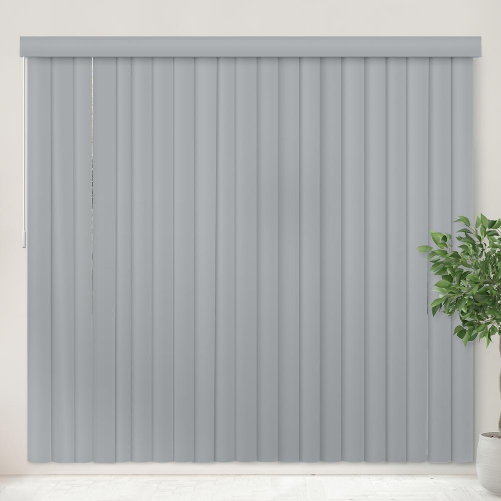 Vertical Blind Oxford Gray PVC Cordless Vertical Blind - 78 in.