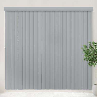 Vertical Blind Oxford Gray PVC Cordless Vertical Blind - 78 in. W x 84 in. L