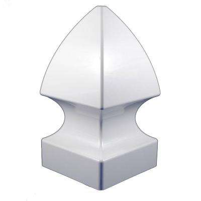 5 in. x 5 in. White Vinyl Gothic Post Cap