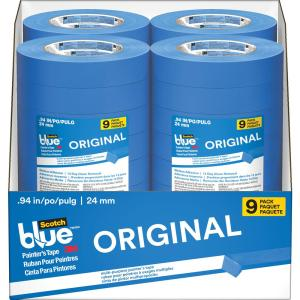 3M ScotchBlue 0.94 inch x 60 yds. Original Multi-Use Painter's Tape (9-Pack) (Case of 4) by 3M